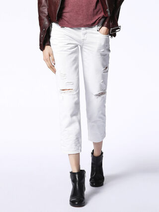 BELTHY-ANKLE 0680K, White Jeans