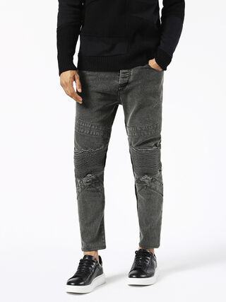 P-SLEENKER-LOW-PATCH, Grey jeans