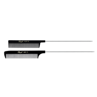 Black Rattail XL Styling Comb Pin Duo