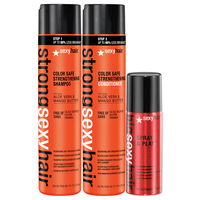 Strong Sexy Shampoo & Conditioner Duo w/ Spray & Play