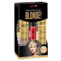 Bombshell Blonde Shampoo & Conditioner w/ Spray & Play