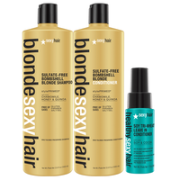 Blonde Sexy Hair Liter Duo with Tri Wheat Leave-In Mini