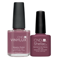 Vinylux with Matching Shellac - Married to the Mauve