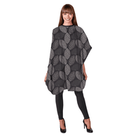 Betty Dain - Black Falling Leaves Shampoo Cape