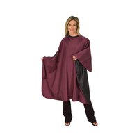 Betty Dain Reversible Black/Burgundy Cape