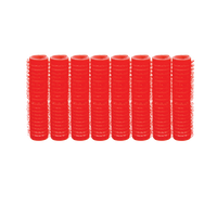 Self-Grip Rollers - 1/2 Inch Red 8–Count