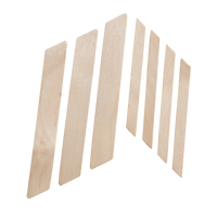 Wood Applicators with Angled Tip Large - 100 count