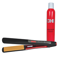 Dura CHI Styling Iron 1 Inch with Free Infra Texture Spray