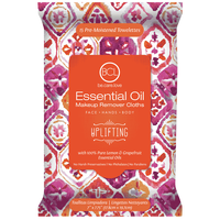 Essential Oil Makeup Wipes - Uplifting Lemon & Grapefruit