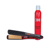 Dura CHI Styling Iron 1 1/4 Inch with Texturizing Hairspray