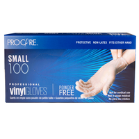 Pro Care Vinyl Powder-Free Gloves - Small