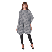 Betty Dain - Silver Falling Leaves Shampoo Cape