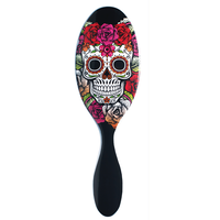 Sugar Skull Brush - Red