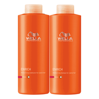 Enrich Shampoo & Conditioner Liter Duo for Coarse Hair