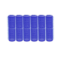Classic Self-Grip Rollers - 5/8 Inch Blue 6–Count