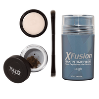XFusion Brow Building Fiber Set - Light Brown with 15 Grams