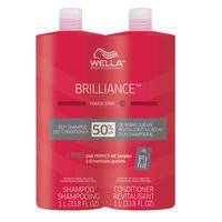 Brilliance Shampoo & Cond Liter Duo Coarse Colored Hair