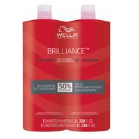 Brilliance Shampoo & Conditioner Liter Duo for Fine Hair