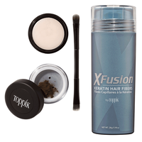 XFusion Brow Building Fiber Set - Dark Brown with 25 Grams