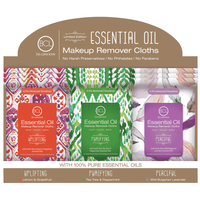 Essential Oil Makeup Wipes - 18 Packet Display