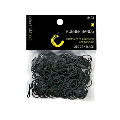 Colortrak Rubber Bands-Black