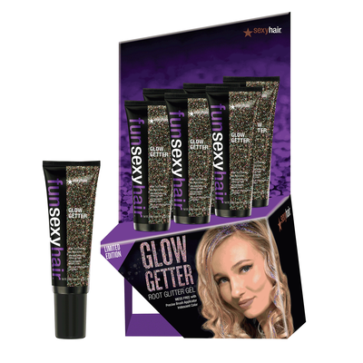 Fun Sexy Glow Getter Root Glitter Gel  - 6 count display