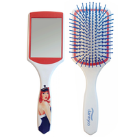 Cushion Brush with Mirror - Nautical Collection