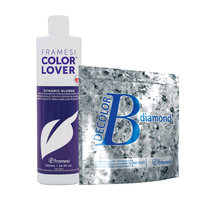 Diamond Powder Bleach with Dynamic Blonde Shampoo
