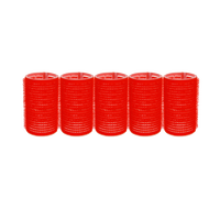Self-Grip Rollers - 1 1/2 Inch Red 5–Count
