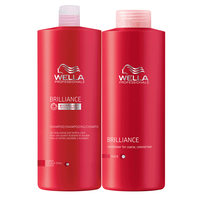 Brilliance - Shampoo & Conditioner for coarse hair Liter Duo