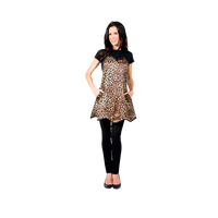 Betty Dain Leopard Couture Apron