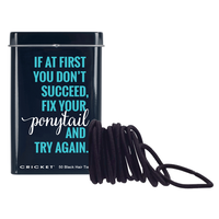 Fix Your PonyTail Tin - 50 Black Hair Ties