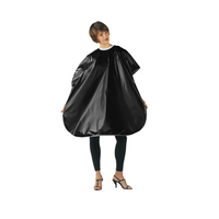 Betty Dain Black Vinyl Shampoo Cape