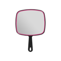 "Mirror, 9"" X 12"" Square w/Burgundy Trim"