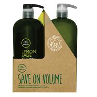 Lemon Sage Shampoo & Conditioner Liter Duo