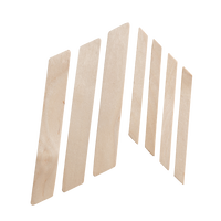 Wood Applicators with angled Tip Small - 100 count
