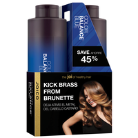 Color Balance Blue Shampoo & Conditioner Liter Duo