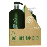 Tea Tree Special Shampoo w/Hair & Body Moisturizer Liter Duo