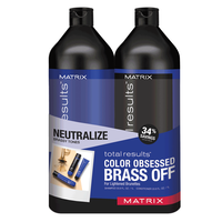 Total Results Brass Off Shampoo & Conditioner Liter Duo