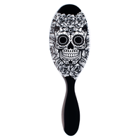 Sugar Skull Brush - White