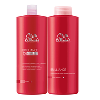 Brilliance Shampoo & Conditioner Liter Duo for Fine Hair