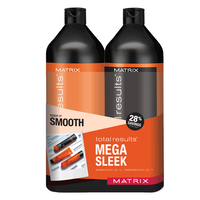 Total Results Mega Sleek Shampoo & Conditioner Liter Duo