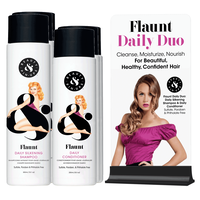 3 Flaunt Silkening Shampoo & Daily Conditioner+display