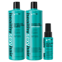 Healthy Sexy Hair Liter Duo with MiniTri-Wheat Leave-In