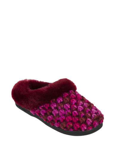 Popcorn Knit Clog Slipper