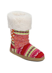 Tall Patchwork Boot Slipper