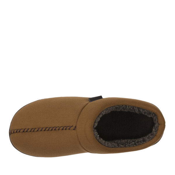Microsuede Clog Slipper with Top Seam