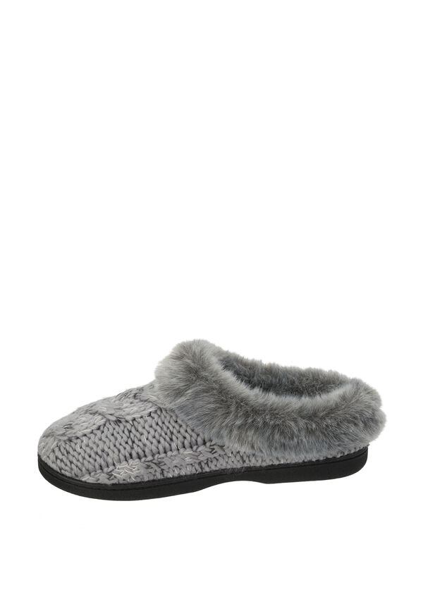 Chunky Cable Knit Clog Slipper