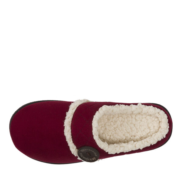 Microsuede Clog Slipper with Quilted Cuff