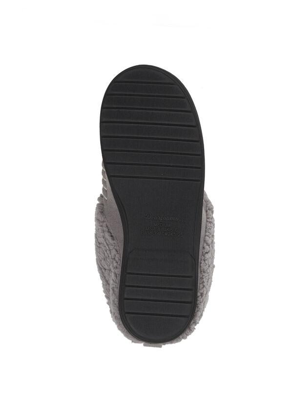 Microsuede Clog Slipper with Deep Cuff